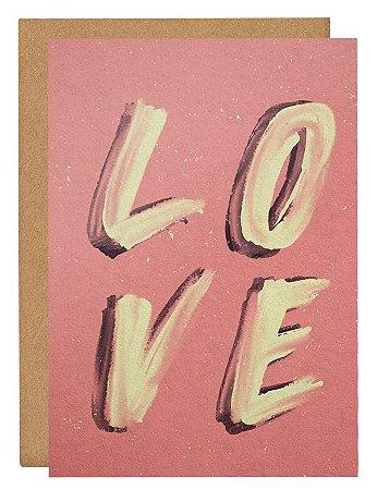 Cartão Love pintura