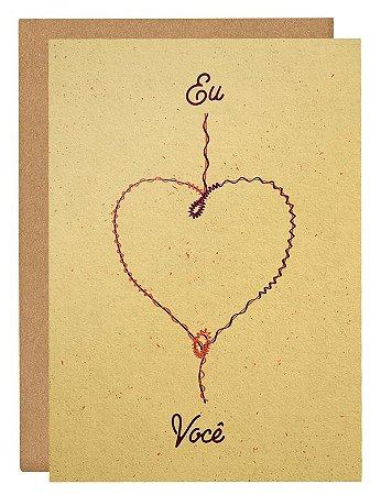 Cartão Enrolados no amor