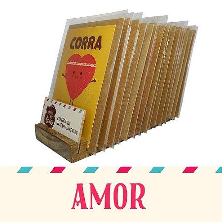 Kit Expositor de Balcão com 30 Cartões Comemorativos de Amor