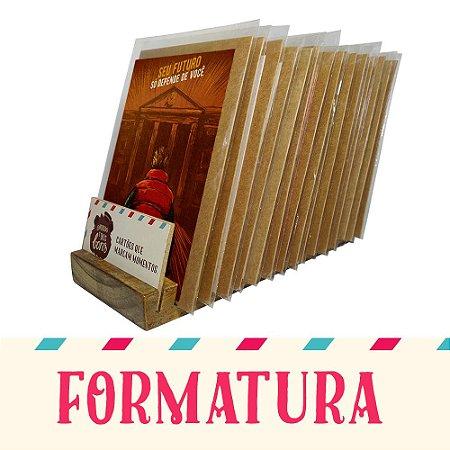 Kit Expositor de Balcão com 30 Cartões Comemorativos de Formatura