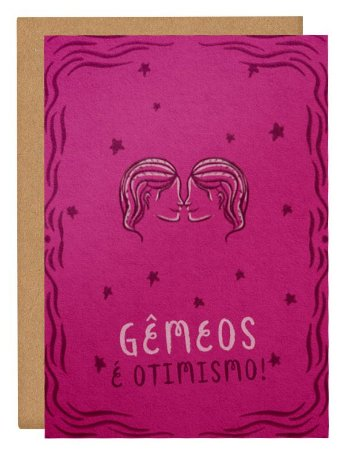 Cartão Horóscopo Gêmeos