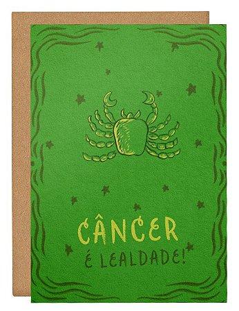 Cartão Horóscopo Câncer