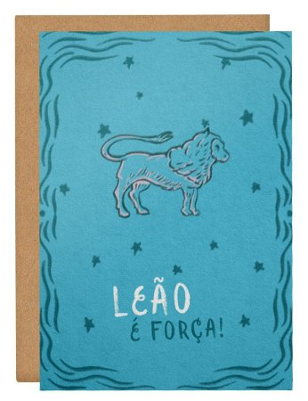 Cartão Horóscopo Leão