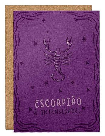 Cartão Horóscopo Escorpião