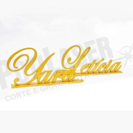 Nome Personalizado em MDF Dourado