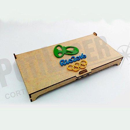 Porta Moedas Olímpicas Rio 2016 em MDF