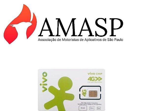 Chip VIVO+ Plano 10GB  AMASP DDD 11 (R$49,90 por mês)
