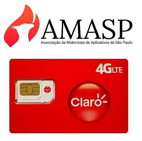 Chip CLARO+ Plano 10GB  AMASP DDD 11 (R$49,90 por mês)