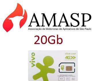 Chip VIVO+ Plano 20GB  AMASP DDD 11 (R$99,80 por mês)
