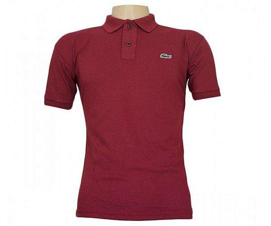 a0bb6b7d34d0d Camisa Polo Lacoste Vinho - WJA Vendas