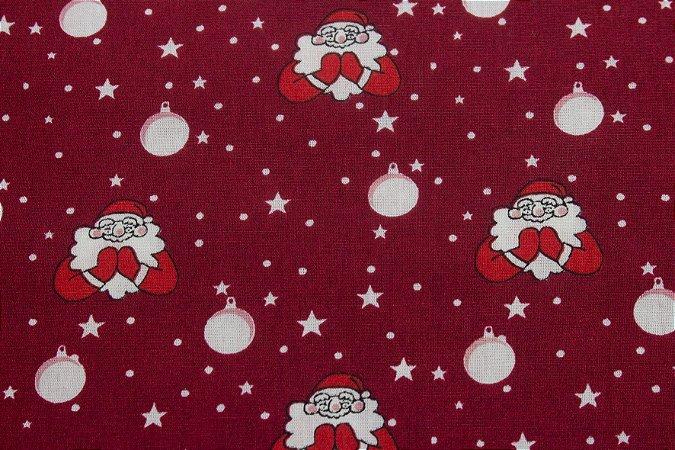 Tricoline Oração Do Papai Noel Fundo Vermelho ( 0,50 m x 1,40 m )
