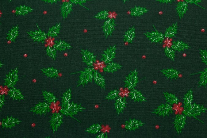 Tricoline Visco De Natal Fundo Verde ( 0,50 m x 1,40 m )