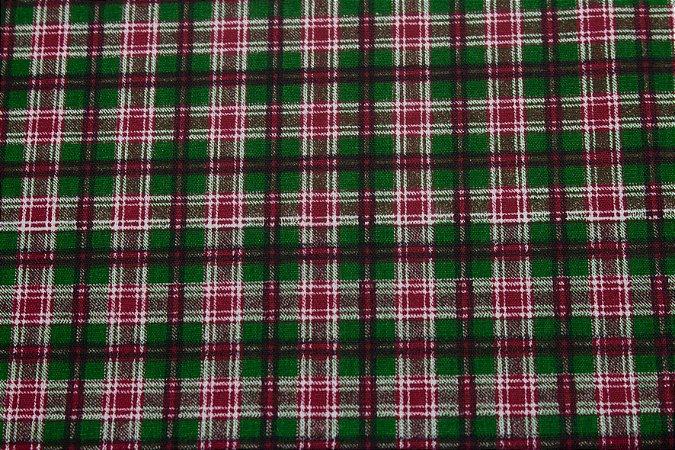 Tricoline Xadrez Natalino Verde e Vermelho ( 0,50 m x 1,40 m )