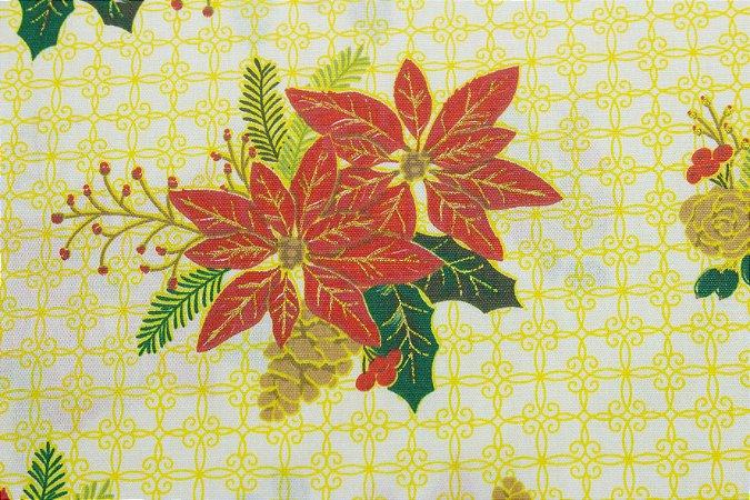 Tricoline Flores Viscos E Pinhas ( 0,50 m x 1,40 m )
