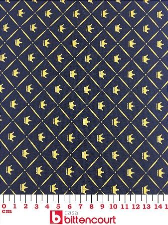 Tricoline Coroa Dourada Fundo Preto X5 ( 0,50 m x 1,40 m )