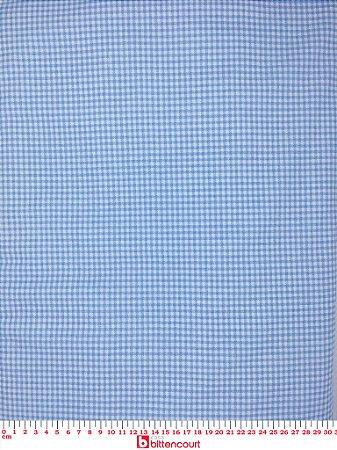 Tricoline Xadrez Pequeno Azul Bebê Bittencourt ( 0,50 m x 1,40 m )