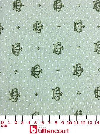 Tricoline Coroa Verde Fundo Verde X5 ( 0,50 m x 1,40 m )
