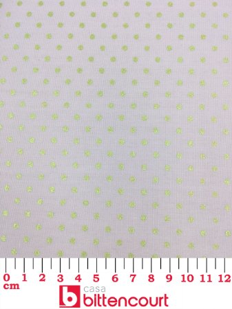 Tricoline Poá Dourado Fundo Rosa Bebê Fernando Maluhy ( 0,50 m x 1,40 m )