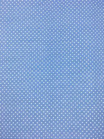 Textolen Poá Branco Fundo Azul ( 0,50 m x 1,40 m )