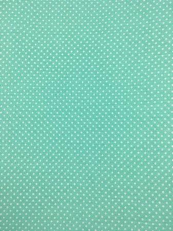 Textolen Poá Branco Fundo Verde ( 0,50 m x 1,40 m )