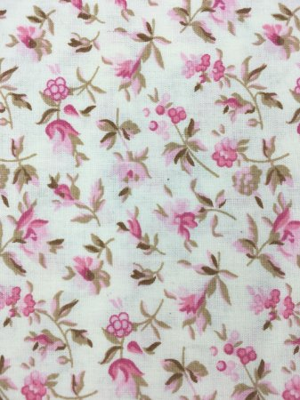 Tricoline Floral Rosa Fundo Off Caldeira ( 0,50 m x 1,40 m )