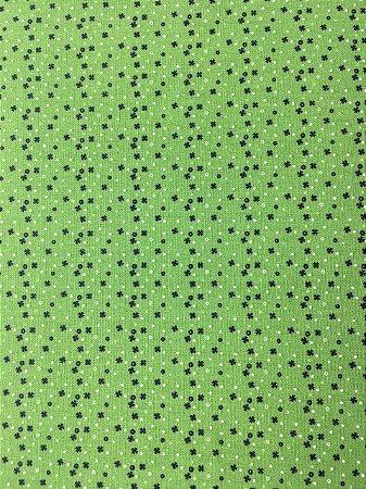 Tricoline Composê Natalino Verde Círculo ( 0,50 m x 1,40 m )