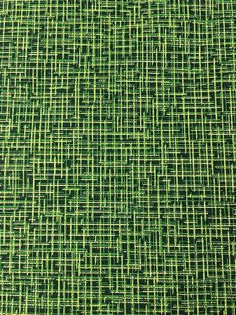 Tricoline Xadrez Dourado com Verde ( 0,50 m x 1,40 m )