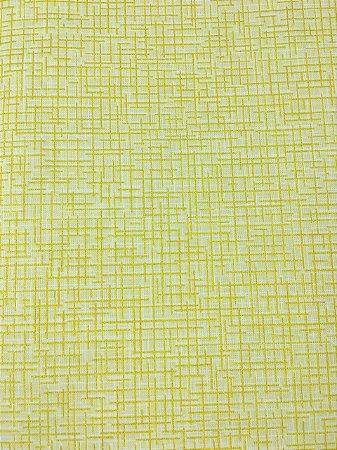 Tricoline Xadrez com Glitter Dourado Fundo Bege ( 0,50 m x 1,40 m )
