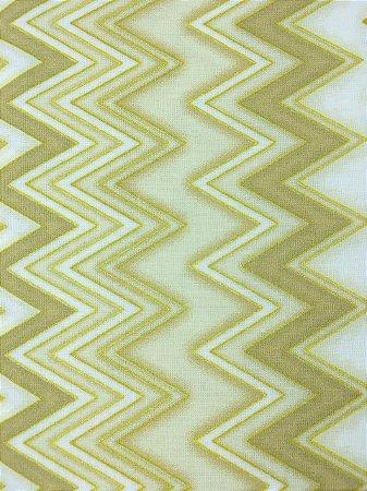 Tricoline Chevron Dourado com Bege ( 0,50 m x 1,40 m )