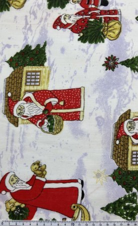 Tricoline Papai Noel e a Entrega de Presentes ( 0,50 m x 1,40 m )