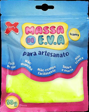 MASSA DE EVA P/ ARTESANATO 50 G - AMARELO LIMAO