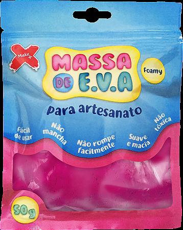 MASSA DE EVA P/ ARTESANATO 50 G - PINK
