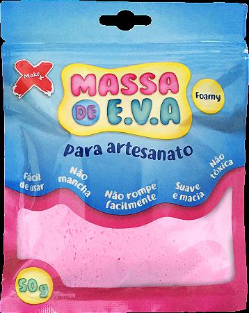 MASSA DE EVA P/ ARTESANATO 50 G - ROSA BEBÊ