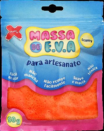 MASSA DE EVA P/ ARTESANATO 50 G - LARANJA