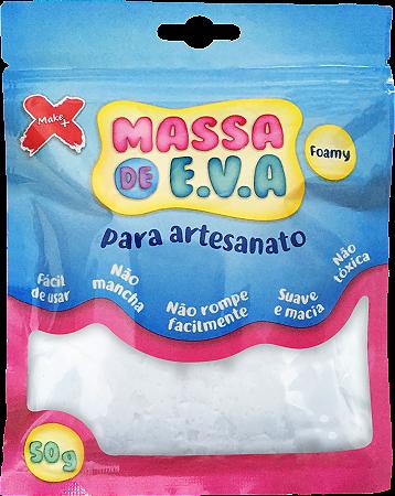MASSA DE EVA P/ ARTESANATO 50 G - BRANCO