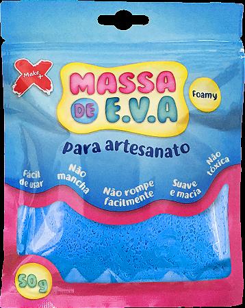 MASSA DE EVA P/ ARTESANATO 50 G - AZUL CLARO