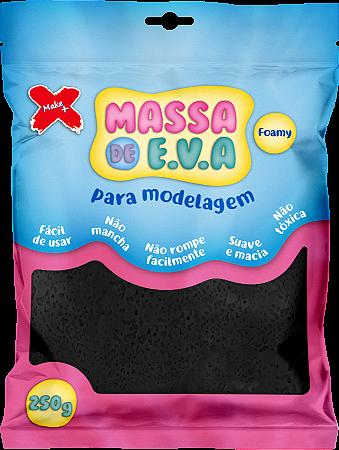 MASSA DE EVA P/ ARTESANATO 250 G - PRETO