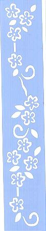 ESTÊNCIL JK 284 4 X 30 ARABESCO FLORAL