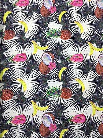 Tricoline Digital BT01 Coleção Tropical Casa Bittencourt ( 0,50 m x 1,40 m )