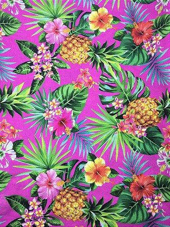Tricoline Digital BT03 Coleção Tropical Casa Bittencourt ( 0,50 m x 1,40 m )