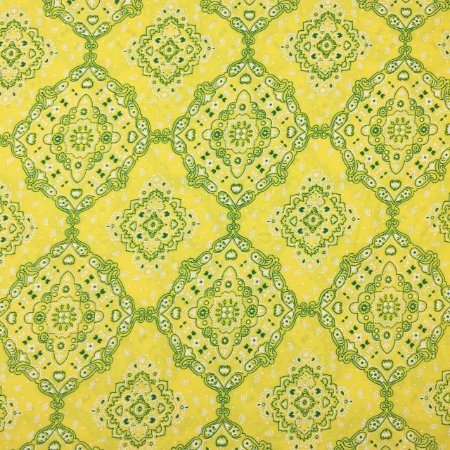 Tricoline Bandana Amarelo e Verde ( 0,50 m x 1,40 m )