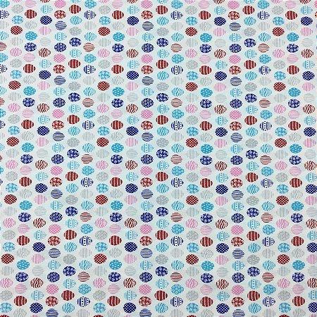 Tricoline Ovinhos Coloridos de Páscoa Estilotex ( 0,50 m x 1,40 m )
