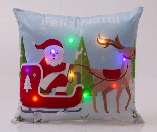 Capa para Almofada Natalina com LED Noite Feliz 4 ( 44 cm x 44 cm )