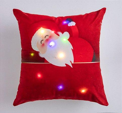 Capa para Almofada Natalina com LED Noite Feliz 9 ( 44 cm x 44 cm )