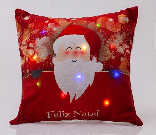 Capa para Almofada Natalina com LED Noite Feliz 10 ( 44 cm x 44 cm )