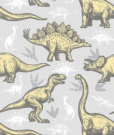 Adesivo de Parede Dinossauro Fundo Cinza DC0030 ( 0,52 m x 3,0 m )
