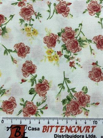 Tricoline Floral Ramalhete Círculo ( 0,50 m x 1,40 m )
