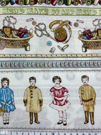 Tricoline Costura Vintage Barrado ( 0,50 m x 1,40 m )