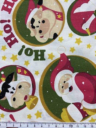 Tricoline Papai Noel e os Animais Círculo ( 0,50 m x 1,40 m )