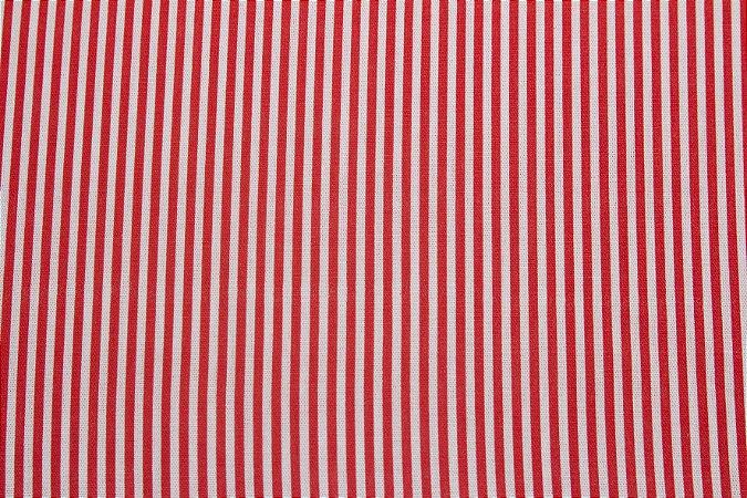 Tricoline Listra Vermelho e Branco ( 0,50 m x 1,40 m )